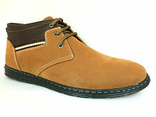 New Mens Lace Up Suede Look Black Brown Beige Desert Ankle Boots Size 6 - 11