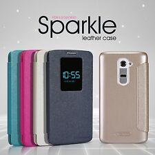 Nillkin Sparkle View Smart PU Leather Flip Wallet Cover Case For LG G2 D802