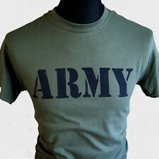 Army T Shirt Forces US British Services War Camo Marines Commando SAS