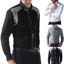 New Arrival Mens Slim Casual fit Dress Shirts Collections in Black White Gray