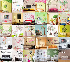 DIY Butterfly tree flower owl Quote Wall Stickers Art Mural Decal Home Decor
