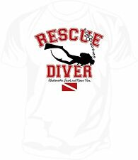 SAR - Underwater Search & Rescue: RESCUE DIVER  Screen Printed T-Shirt WHITE
