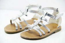 #or42# Silver White Rome Baby Girl Crib Crib Sandals Shoes For 6-18 month