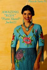 "SALE Roja's Most AMAZING Flamenco Style Turquoise ""Piano Shawl"" Jacket!! OLE!!!"