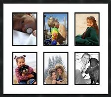 """Collage Picture Frame 6 Openings 4""""X6"""" Multi-Photo  wall frame Transitional"""