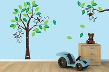 NEW LARGE SIZE Monkey #1 Tree Wall Art Stickers Kids Nursery Vinyl Decals DIY