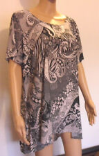 BRAND NEW LOVELY LADIES BLACK AND WHITE TUNIC TOP BY MARINA KANEVA