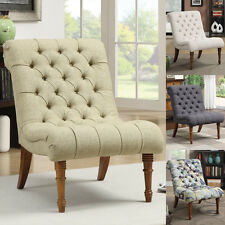 Yellow Grey Abstraction Capri Oatmeal Fabric Tufted Curved Accent Chair Seating