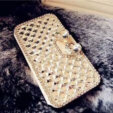 Bling Rhinestone Leather Wallet Case Stand for Samsung S4,S5, N3, iPhone 6, 6 +
