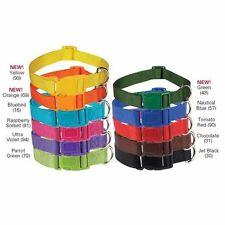 Nylon Dog Collar Zack & Zoey Puppy Quick Release Buckles 11 Colors 4 Sizes NEW