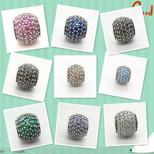 925 Silver Core Multi-Color Pave Ball Lights Spring 2014 New Release Charm