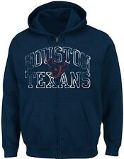 Houston Texans Team Apparel Go For Two II Full Zip Hoodie Big & Tall Sizes