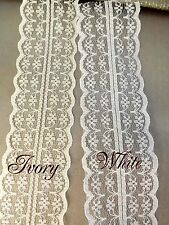 10 Yards of Ivory VINTAGE LACE RIBBON 40mm BRIDAL Classic garland decor floris
