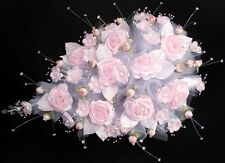 New! Large Bridal - Quinceanera - Sweet 15 Bouquet - Pink & White  ( # E18922 )