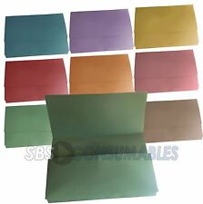 12x A4 Document Wallets. Choice of colours. Foolscap Filing Folders. Half flap.