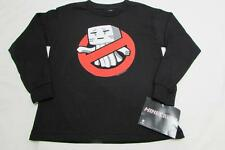 NWT Official MINECRAFT Graphic Tee Youth Sizes S - XL L/S Black Ghast Busters