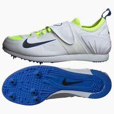 New Mens 8.5 12.5 NIKE Zoom PV II White Blue Pole Vault Track Field Spikes Shoes