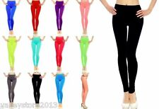 Lot Seamless Basic Solid Full Length Leggings Tight Jeggings Stretch Spandex