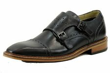 Giorgio Brutini Men's Rapide 24931 Fashion Oxford Monkstrap Black Leather Shoes