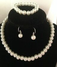 Flower Girl Necklace Set Pearl Children's Jewelry Wedding