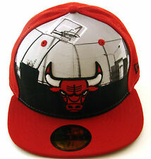 New Era Cap 59Fifty Chicago Bulls Round D Way Red/Black/Team Fitted NBA