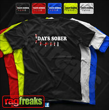 DAYS SOBER BEER BUD LIGHT drinking college Party Bar tee Funny t shirt COORS