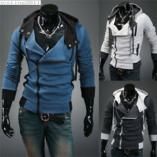 New Fashion Men's Slim Fit Sexy Top Designed Hoodies Jackets Coats 3 Color H01