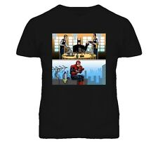 BATMAN AND SPIDERMAN LUNCHTIME FUNNY T Shirt