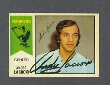 Andre Lacroix signed San Diego Mariners 1974-75 WHA Opee-Chee hockey card