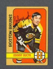 Johnny Bucyk signed Boston Bruins 1972-73 Topps hockey card