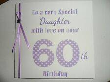 Handmade Personalised Birthday Card Mum Sister Daughter Nan Friend Auntie..etc