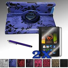 """360 Rotating PU Leather Case Cover Bundle For 2013 Amazon Kindle Fire HDX 7 7.0"""""""