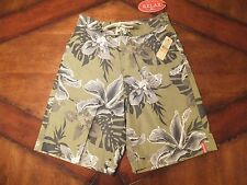 NWT Tommy Bahama Relax Mens Small Swimsuit Swim Shorts Green Floral Hibiscus