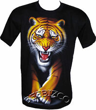 Kids Bengal Tiger Big Cat Biker T Shirt By Wild 6-8/8-10/10-12 Yr