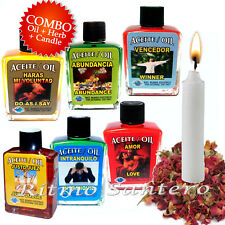 SPIRITUAL OILS MANY VARIETIES- Aceites Espirituales ANOINTING SPELLS WICCA RITES