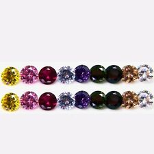 Round Brilliant Cut CZ Size (2 - 10mm) Mix Color Loose Cubic Zirconia Stone Lot