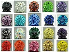 Free P&P Variety of Color Shamballa Disco Ball Crystal Beads DIY Bracelets 10mm