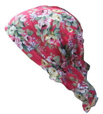 Ladies Patterned Fitted HeadScarf Bandana Wrap Head Scarf Cap (Chemo, Alopecia )
