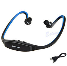Wireless MP3 Player Sport Running Headset Headphone Earphone Earbuds TF SD Slot