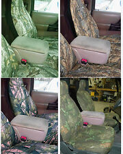 CC 60/40 HIGHBACK CAR SEAT COVERS IN CAMOUFLAGE ( DRIVERS SEAT PART IS BIGGER)