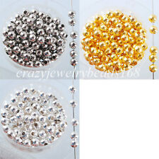 100PCS Metal Iron Round Loose Beads 3MM 4MM 6MM 8MM Pick Colors BH017