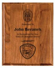Laser Engraved Natural Solid American Walnut  Award Plaque  FREE ENGRAVING