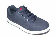 Mens Blue Canvas Skate Lace Up Casual Trainers New Shoes Size 6 7 8 9 10 11 12