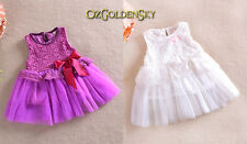 New Baby Toddlers Girls Flower Princess Wedding/Party/Christening Vintage Dress