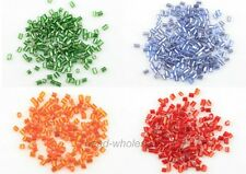 1000pcs Czech Glass Mini Tube Shaped Spacer Beads for Jewelry Making 3x2mm