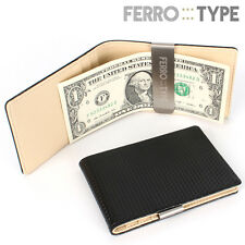 Ferrotype Personalized Carbon Wallet Money Clip Card Holder Free Engraving Gift