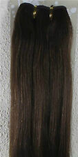 """New 18""""-32"""" Human Hair Extensions Weft Weave Straight 100g Dark Brown #4"""