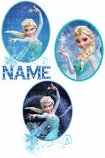 FROZEN DISNEY PRINCESS ELSA IRON ON HEAT T-SHIRT TRANSFER PERSONALISED 3 STYLES
