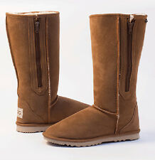 Breezer Long / Tall Ugg Boots with Zip / Zipper Premium Australian Sheepskin