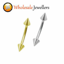 1pc New 316L Steel Spike Eyebrow Curved Barbell Bar Ring Studs Body Piercing